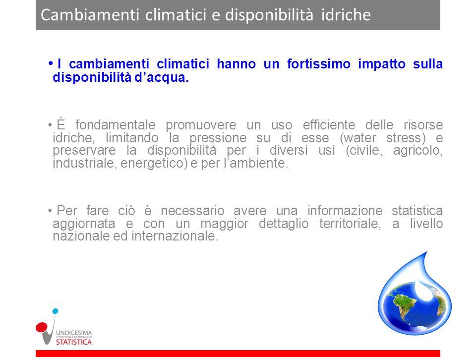 Cambiamenti climatici e disponibilità idriche