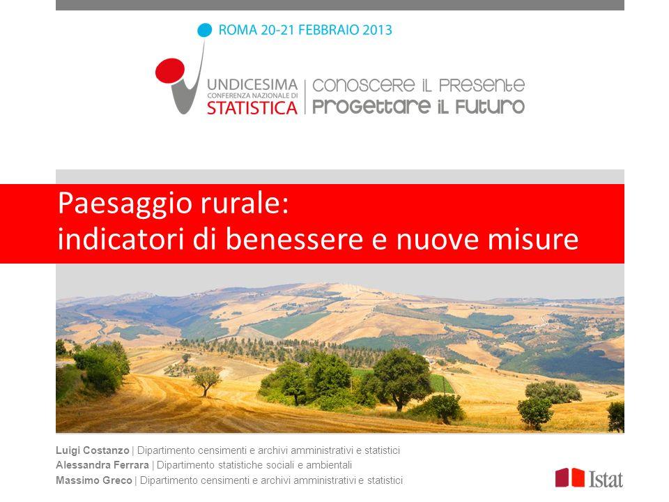 Paesaggio rurale: indicatori di benessere e nuove misure