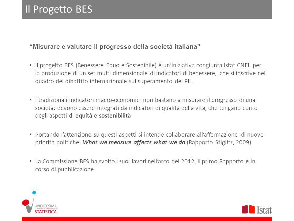 Il Progetto BES Misurare e valutare il progresso della società italiana