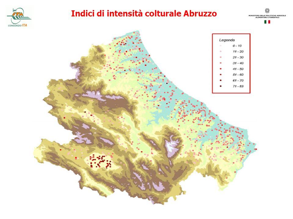 Indici di intensità colturale Abruzzo