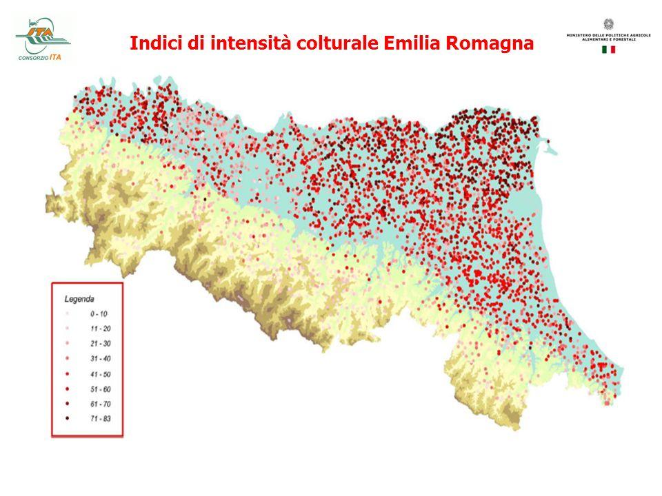 Indici di intensità colturale Emilia Romagna