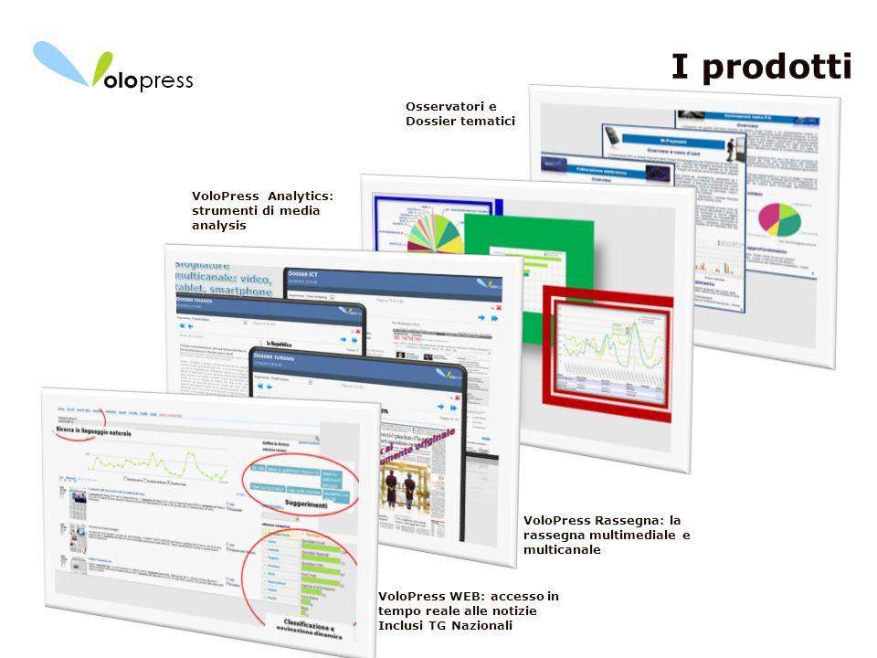 I prodotti Osservatori e Dossier tematici