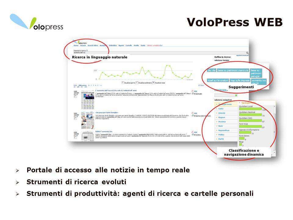 VoloPress WEB Portale di accesso alle notizie in tempo reale