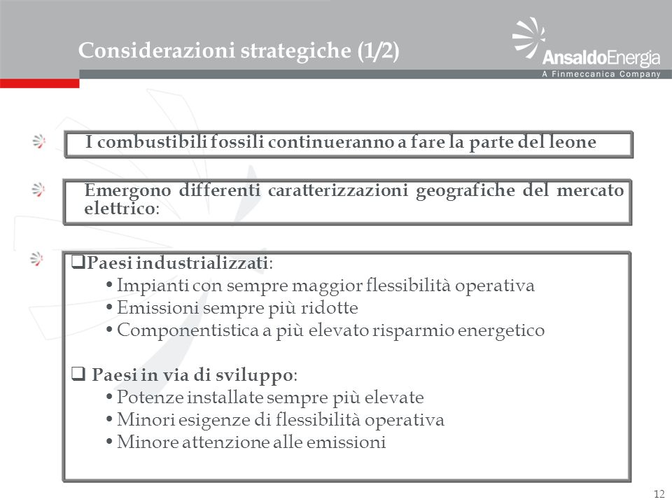 Considerazioni strategiche (1/2)