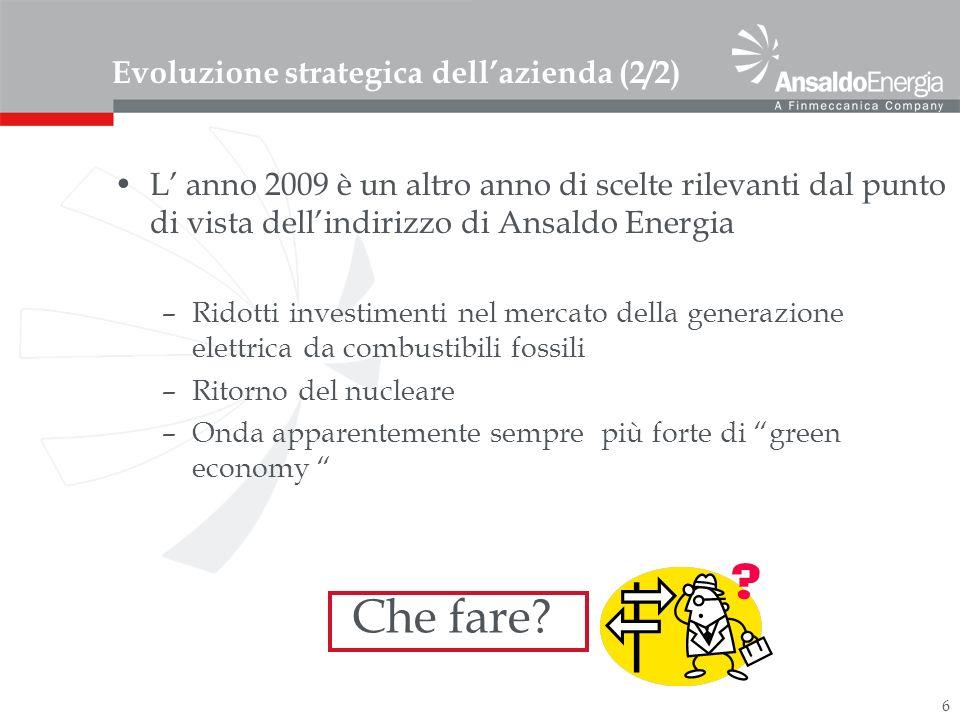 Evoluzione strategica dell'azienda (2/2)