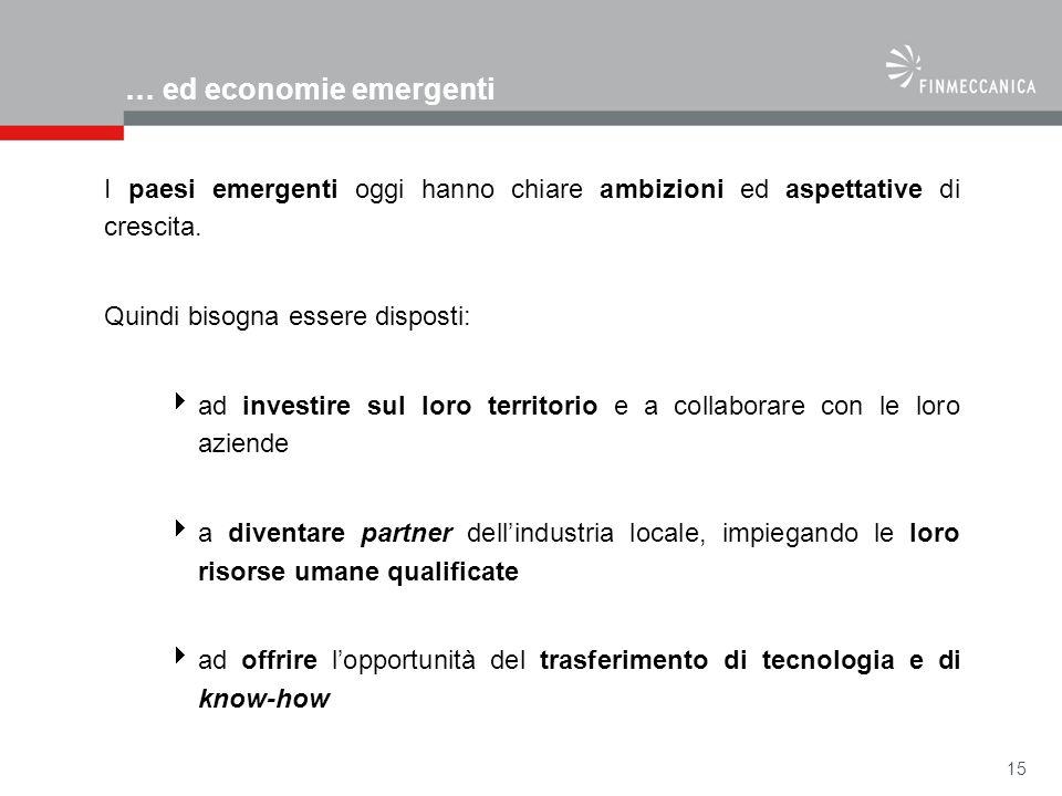 … ed economie emergenti