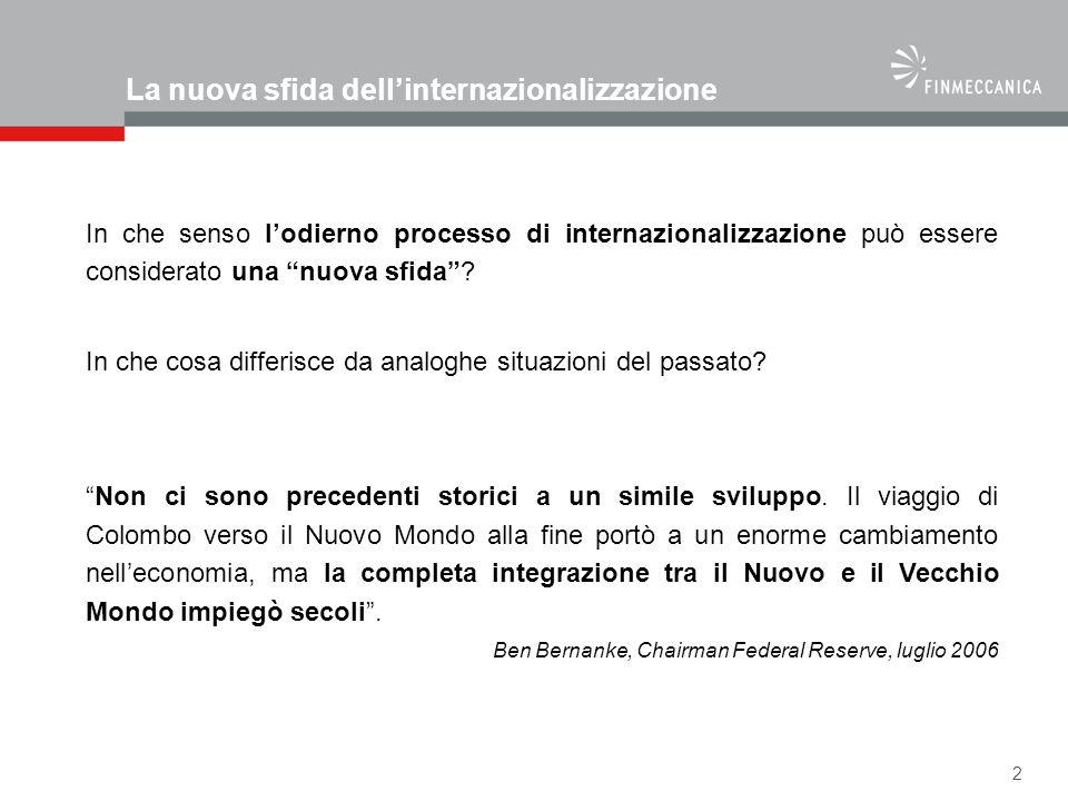 La nuova sfida dell'internazionalizzazione