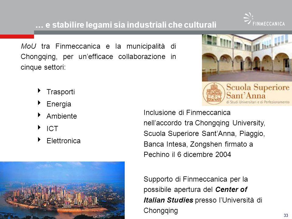… e stabilire legami sia industriali che culturali