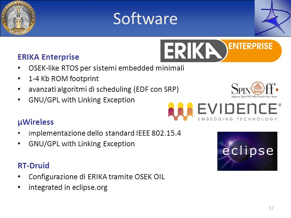 Software ERIKA Enterprise μWireless RT-Druid