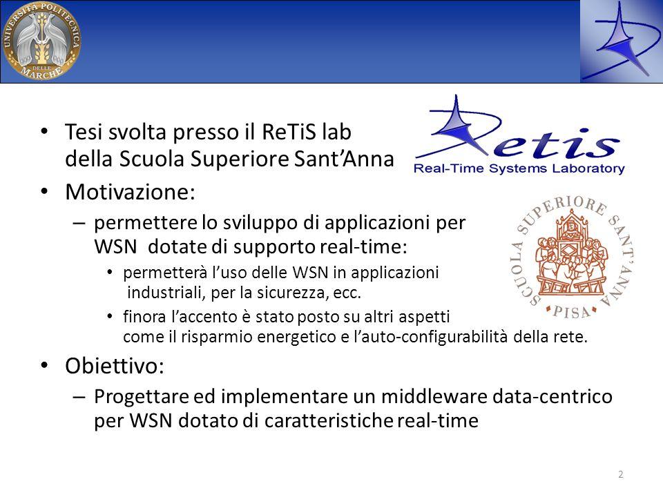 Tesi svolta presso il ReTiS lab della Scuola Superiore Sant'Anna