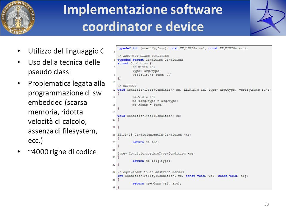 Implementazione software coordinator e device