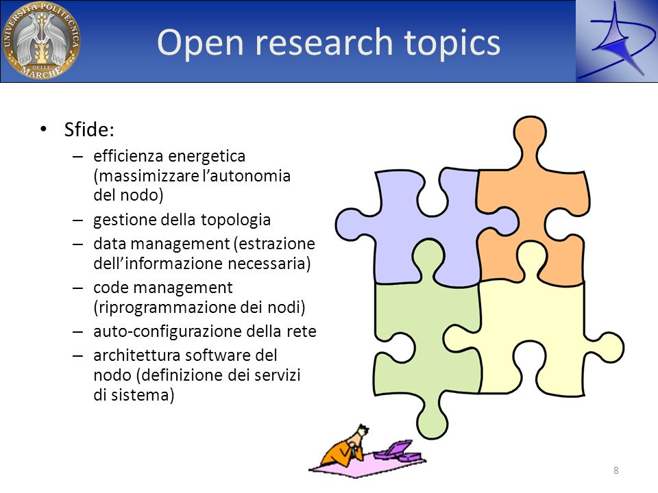 Open research topics Sfide: