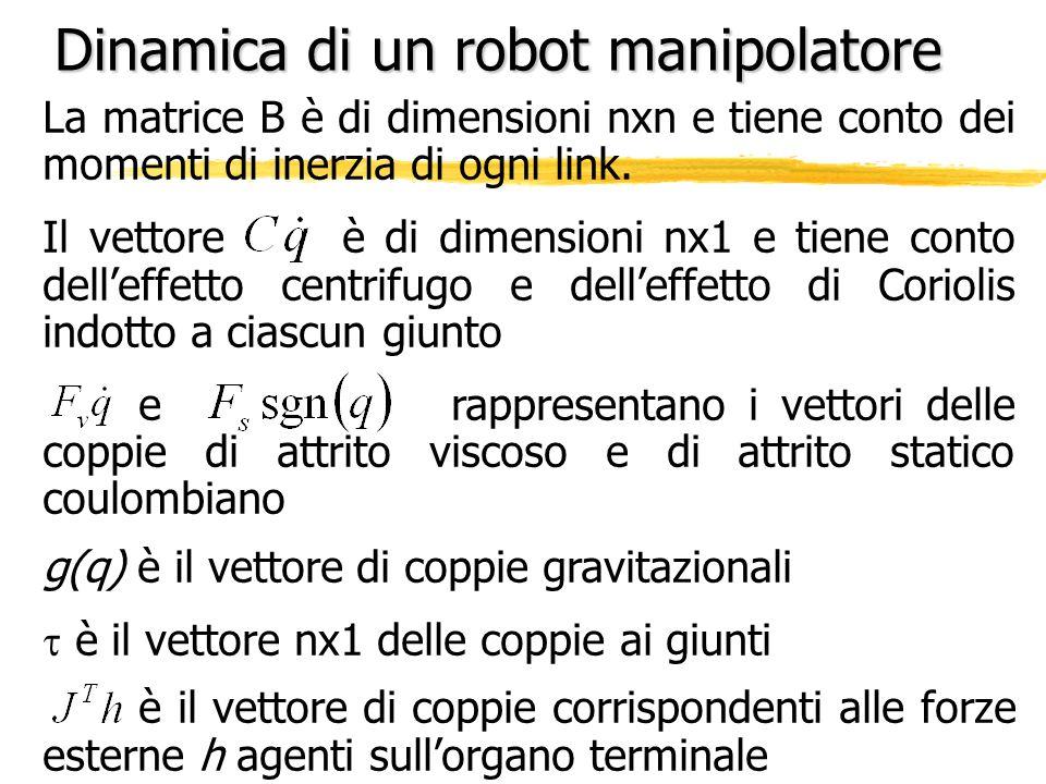 Dinamica di un robot manipolatore