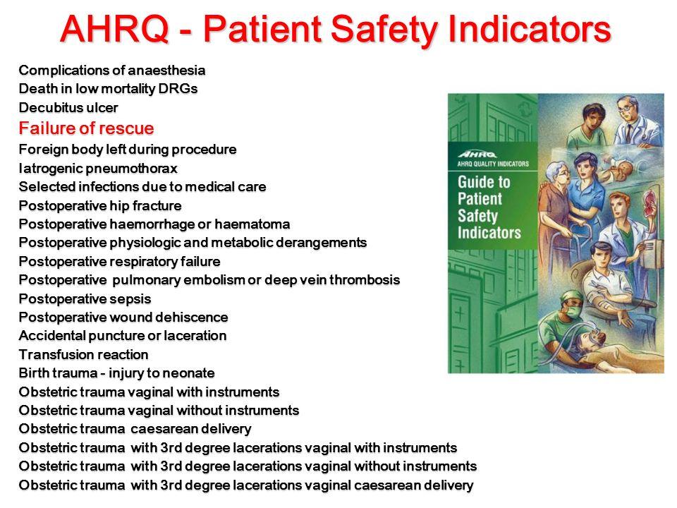 AHRQ - Patient Safety Indicators