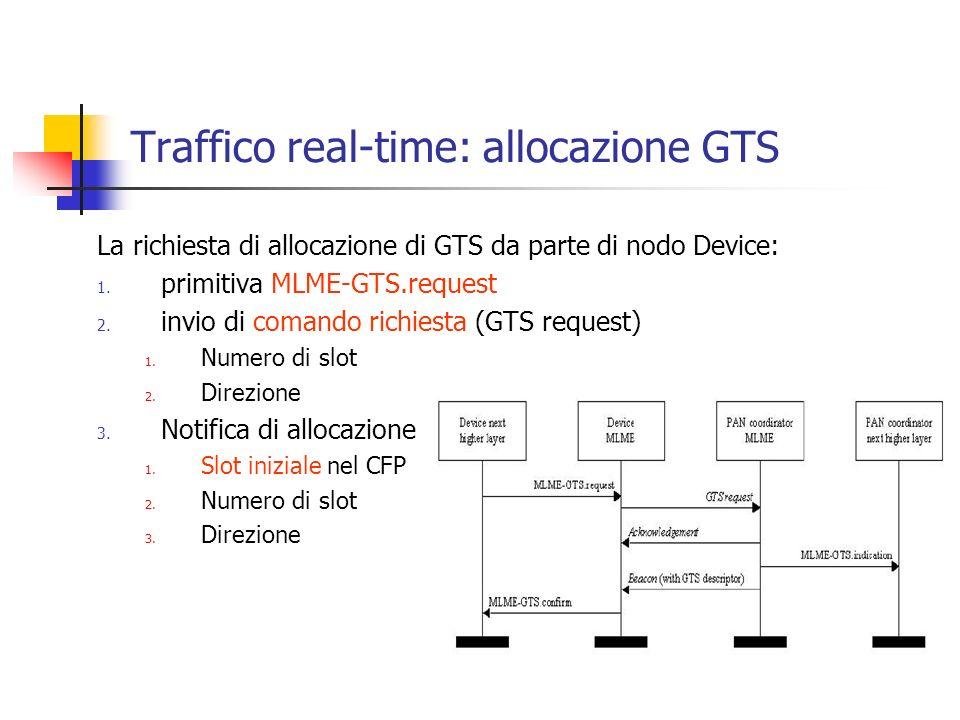 Traffico real-time: allocazione GTS