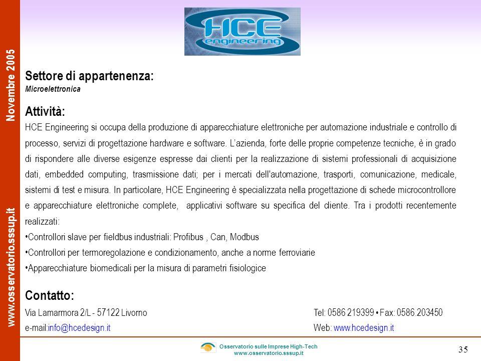 Osservatorio sulle Imprese High-Tech