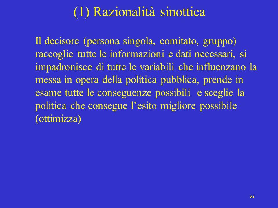 (1) Razionalità sinottica