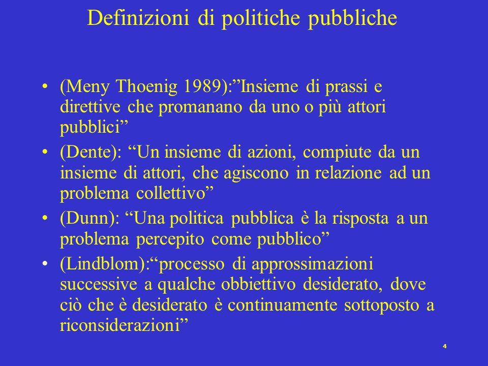 Definizioni di politiche pubbliche