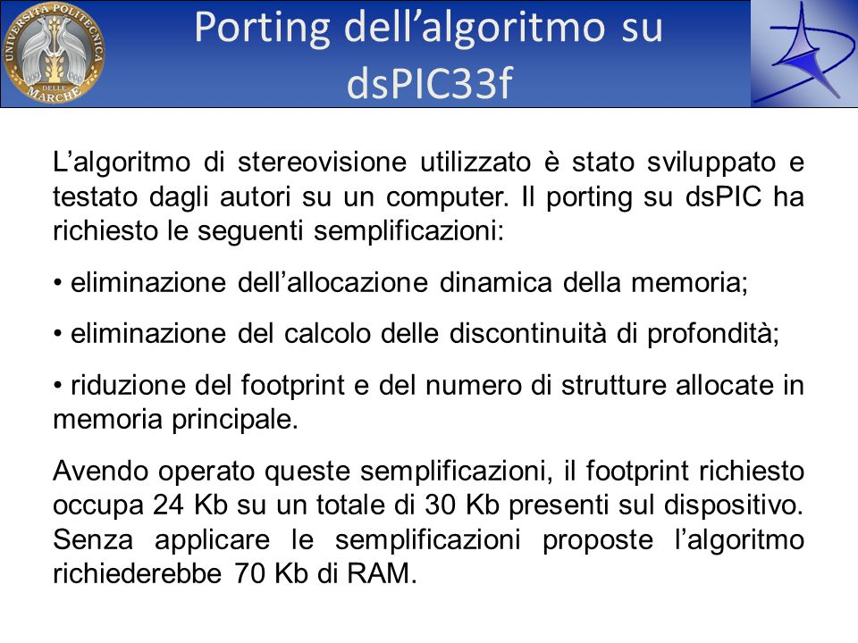 Porting dell'algoritmo su dsPIC33f