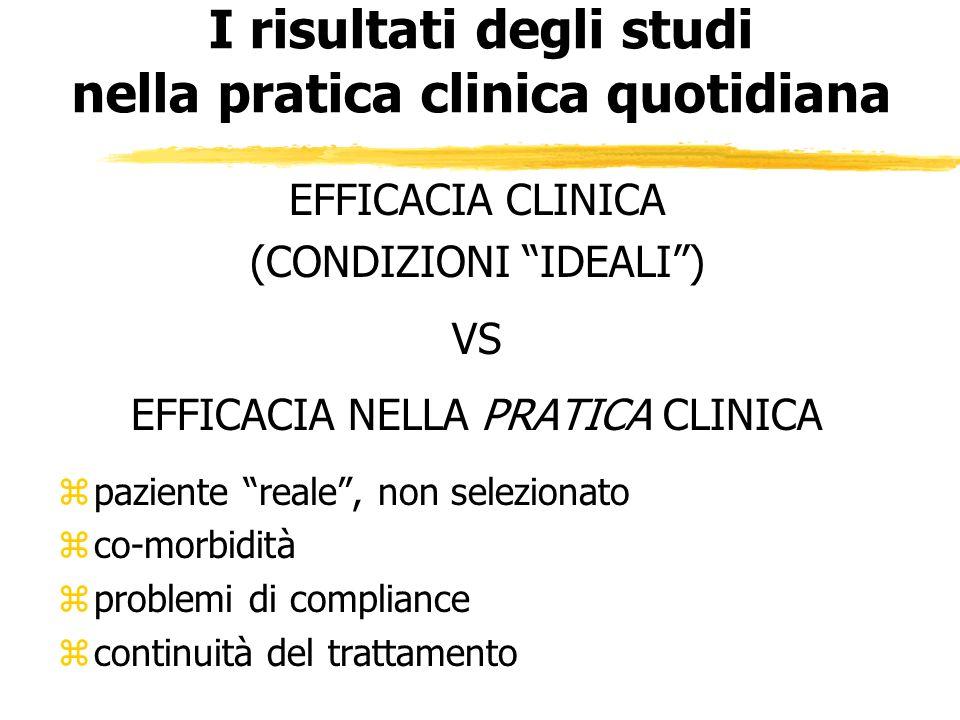 I risultati degli studi nella pratica clinica quotidiana