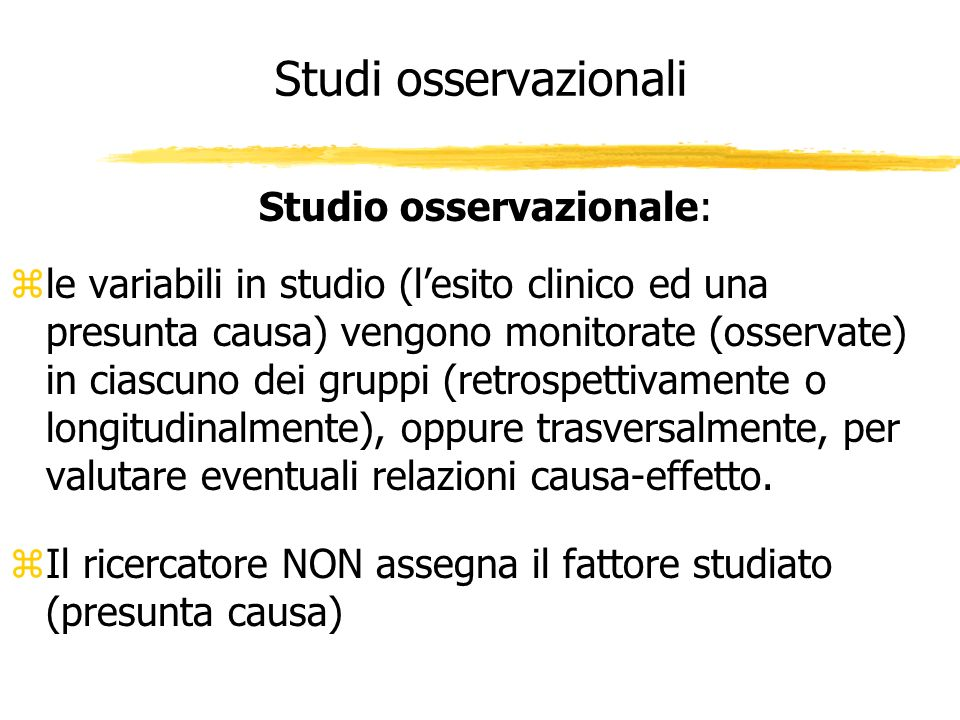 Studio osservazionale: