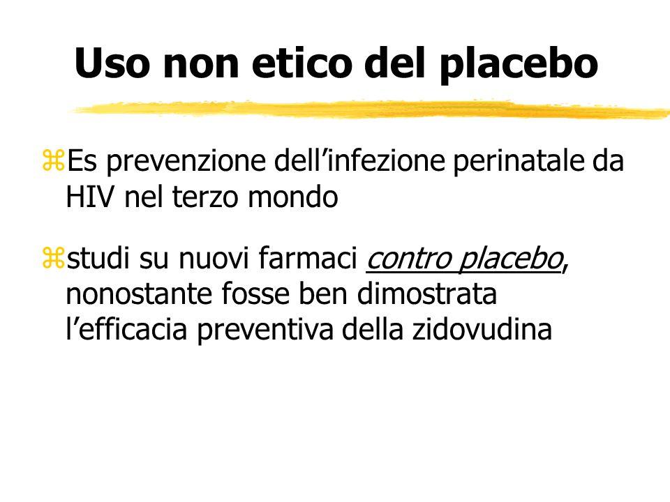 Uso non etico del placebo