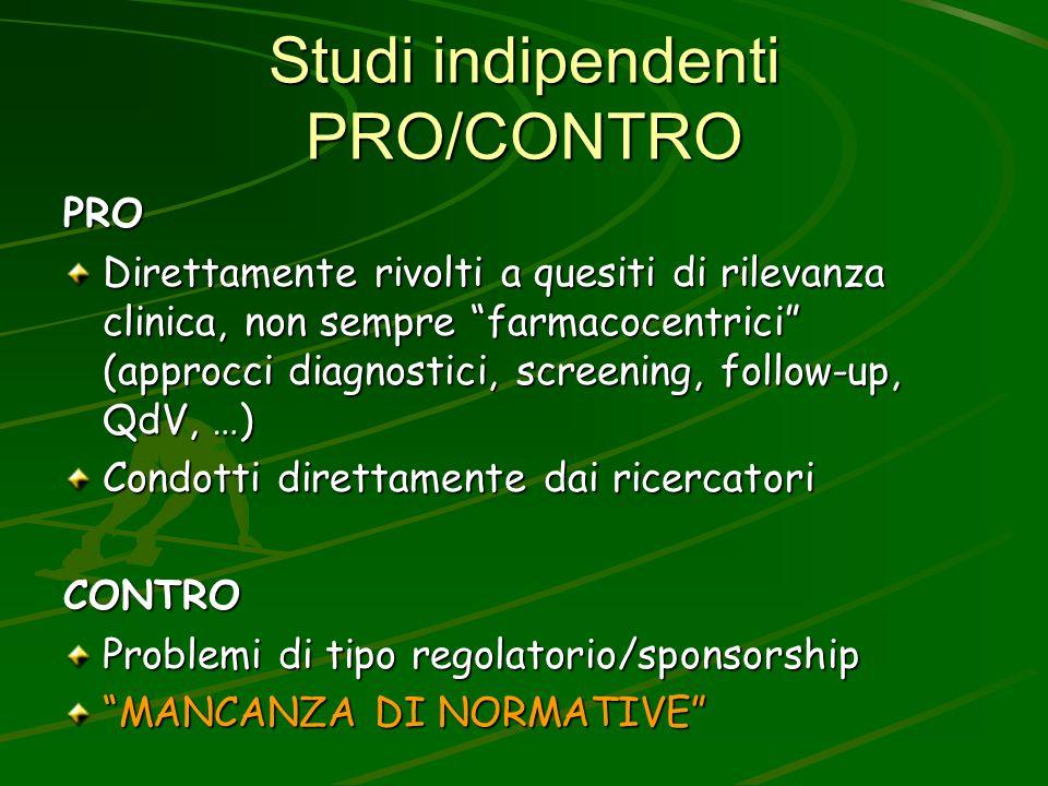Studi indipendenti PRO/CONTRO