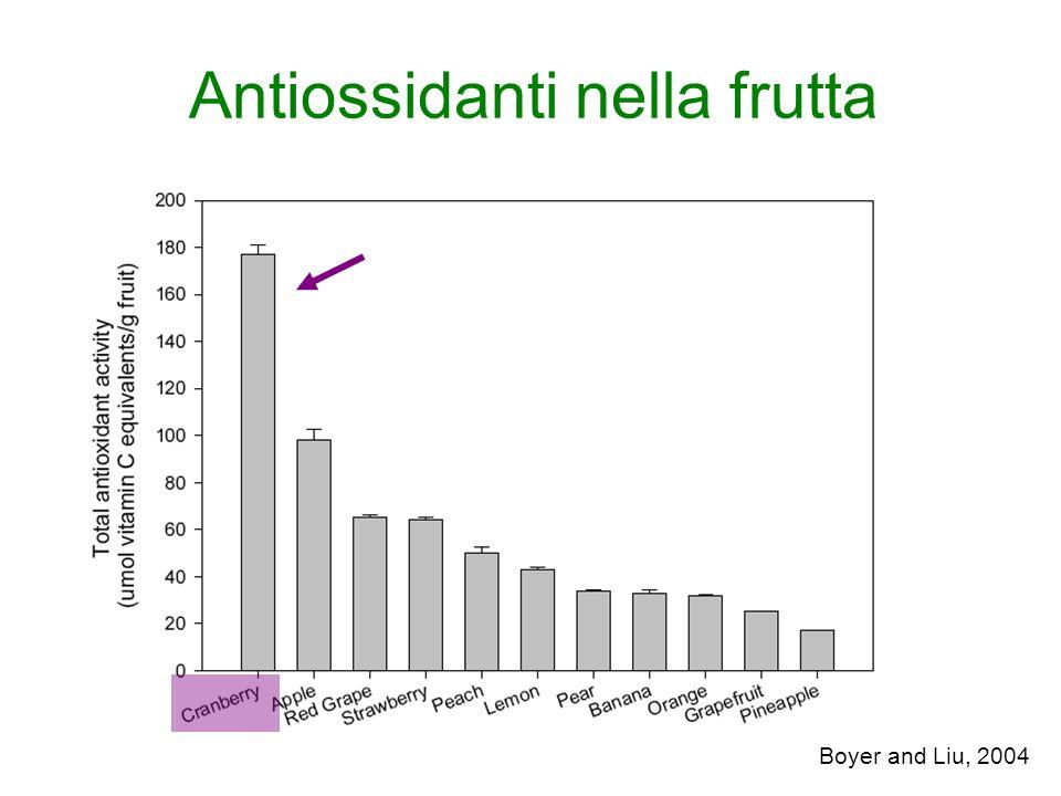 Antiossidanti nella frutta
