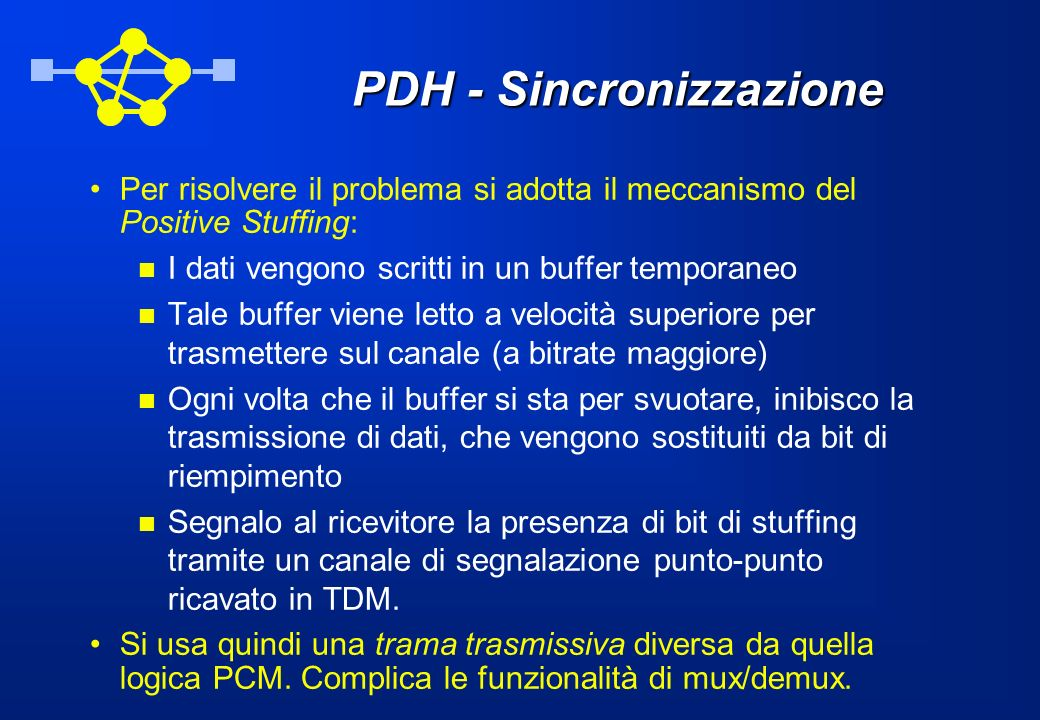 PDH - Sincronizzazione