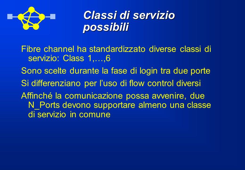 Classi di servizio possibili