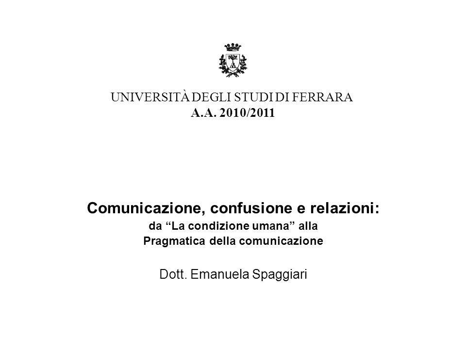 Comunicazione, confusione e relazioni: