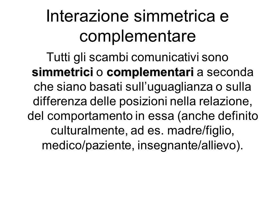 Interazione simmetrica e complementare