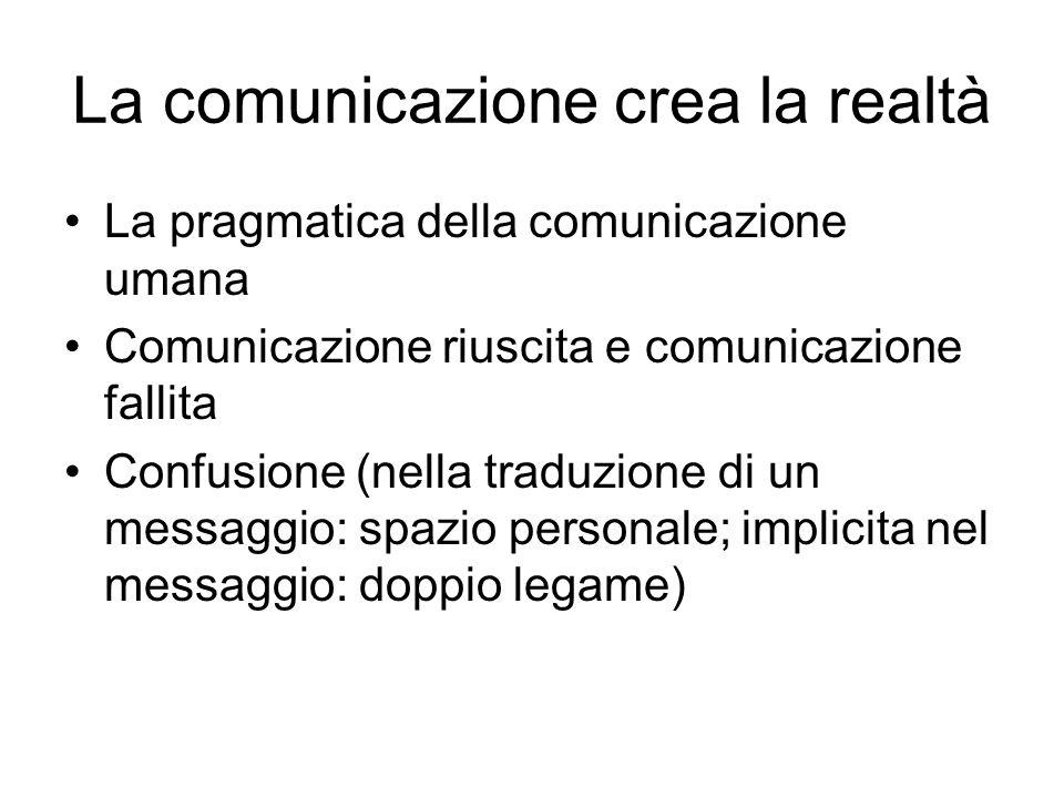 La comunicazione crea la realtà