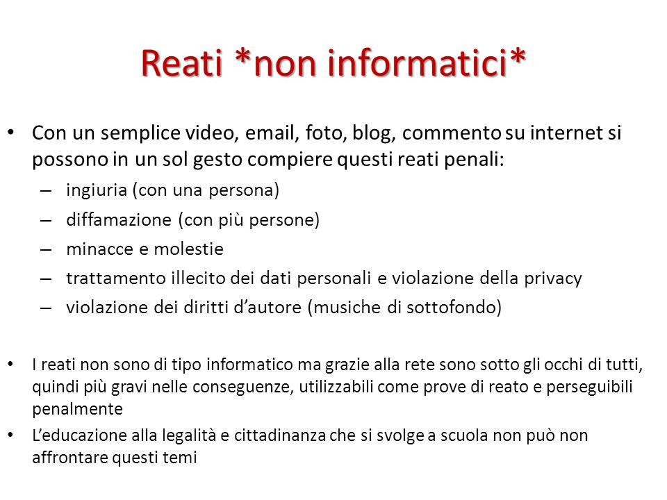 Reati *non informatici*