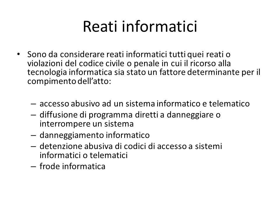 Reati informatici