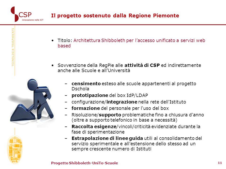Il progetto sostenuto dalla Regione Piemonte