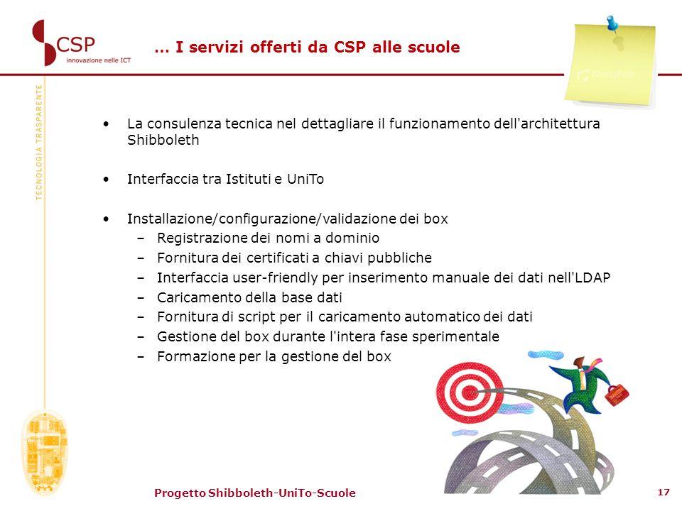 … I servizi offerti da CSP alle scuole