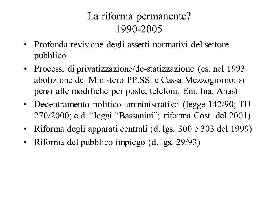 La riforma permanente 1990-2005