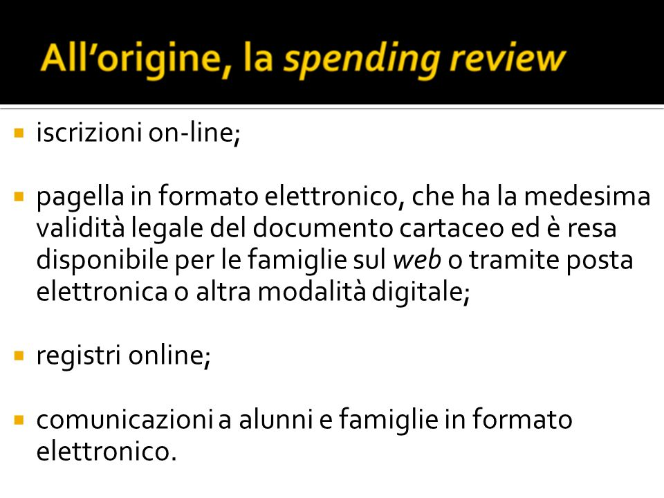 iscrizioni on-line;