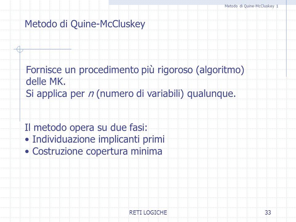 Metodo di Quine-McCluskey 1