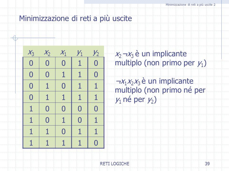 Minimizzazione di reti a più uscite 2