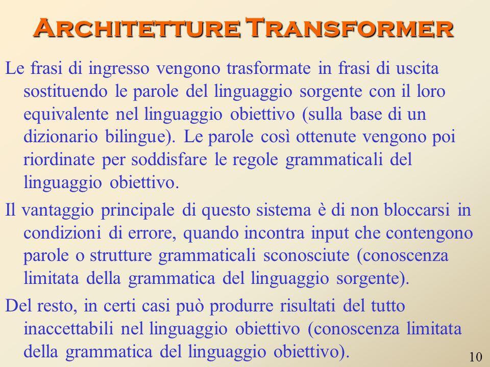 Architetture Transformer
