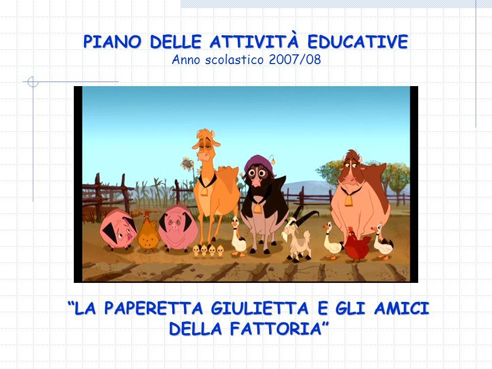 PIANO DELLE ATTIVITÀ EDUCATIVE