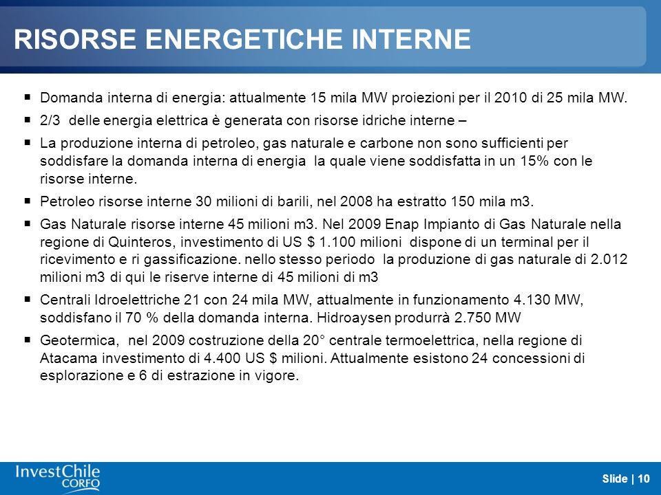 RISORSE ENERGETICHE INTERNE