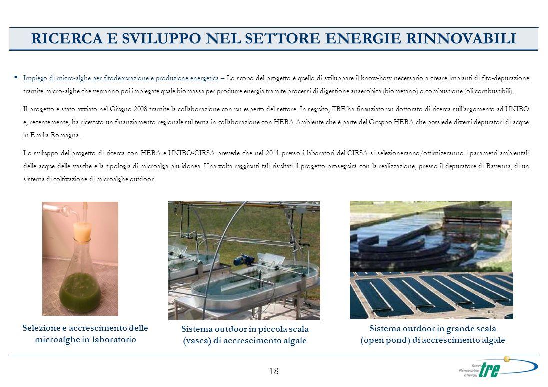 RICERCA E SVILUPPO NEL SETTORE ENERGIE RINNOVABILI