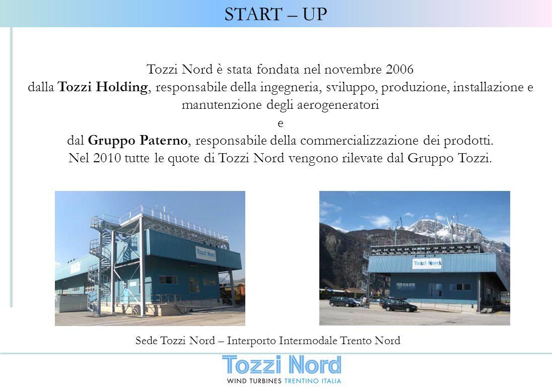 Tozzi Nord è stata fondata nel novembre 2006