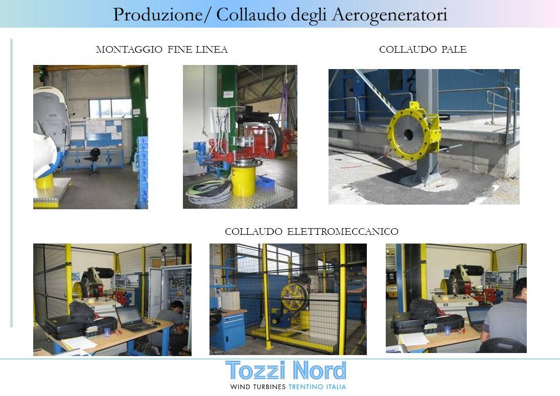 Produzione/ Collaudo degli Aerogeneratori