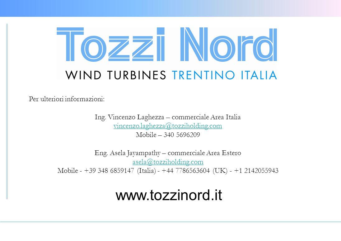 www.tozzinord.it Per ulteriori informazioni: