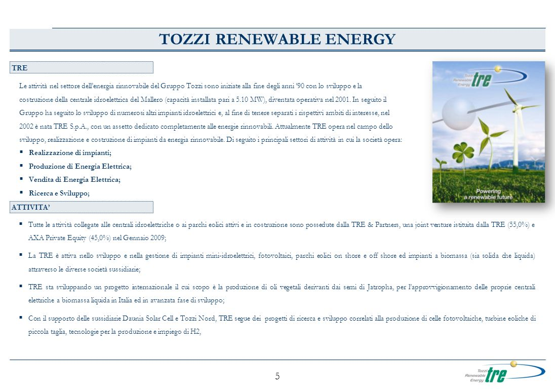 TOZZI RENEWABLE ENERGY