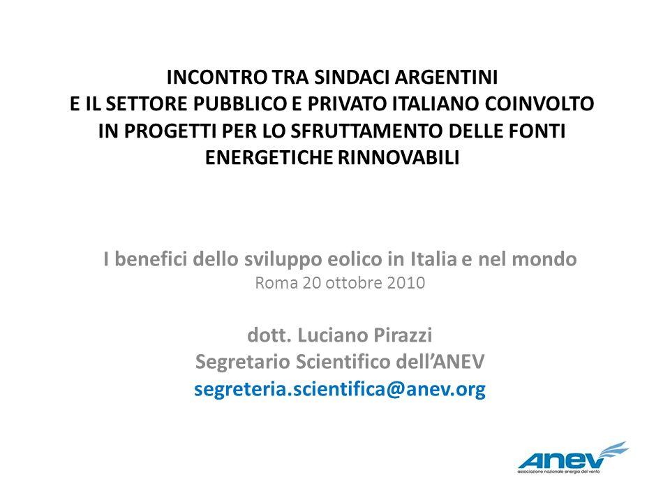 I benefici dello sviluppo eolico in Italia e nel mondo